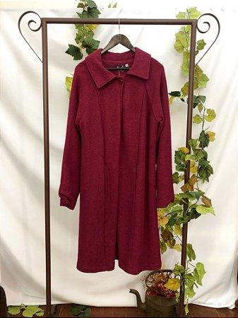 casaco de Lã feito flor (GG)