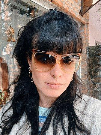 Óculos vintage Seventh Caramelo