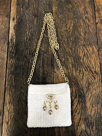 bolsa de Crochê branca (P)