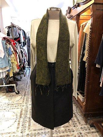 Echarpe de Lã Verde