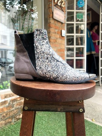 Bota com Glitter Step One (38)