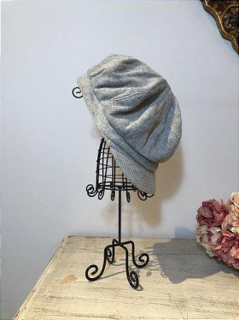 Boina vintage estilo cap franzida