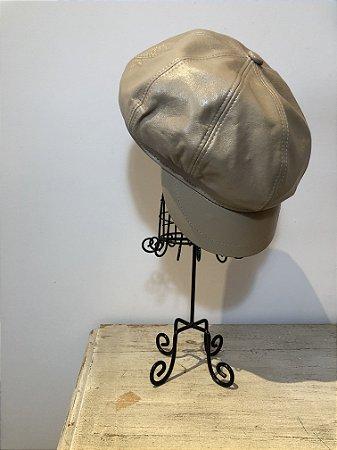 Boina de couro estilo cap