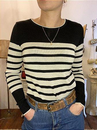 Blusa de tricot listrada (M)