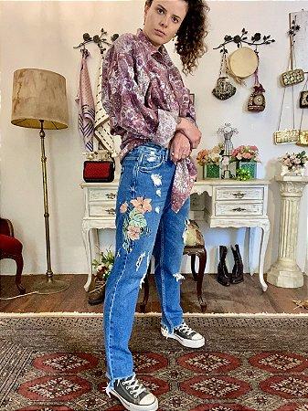 Calça jeans customizada 40 (NOVA)