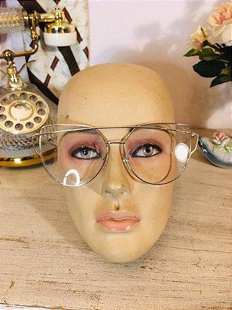 Oculos sem grau metalizado