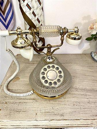 Telefone Vintage Transparente (funcionando)