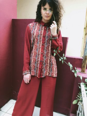 Camisa Vintage Estampada (42)
