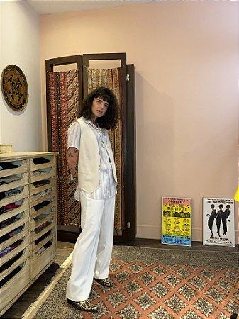 Calça vintage alfaiataria branca (44)