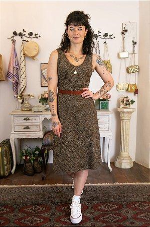 Vestido vintage de Tweed Acinturado (Veste M)