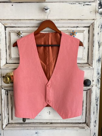 Colete de Alfaiataria rosa claro (U)