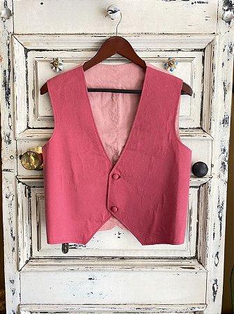 Colete de Alfaiataria Rosa bicolor (u)