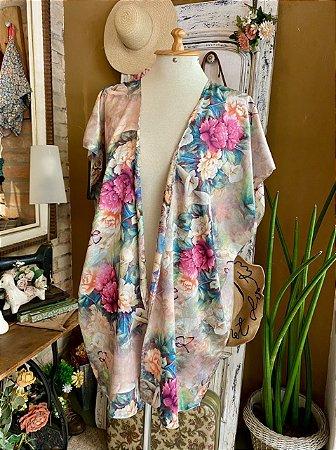 Kimono De seda Flora