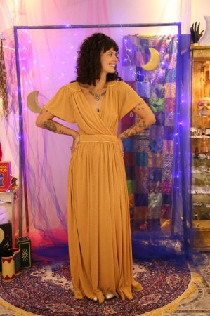 Vestido longo lurex Maria Filó (G)