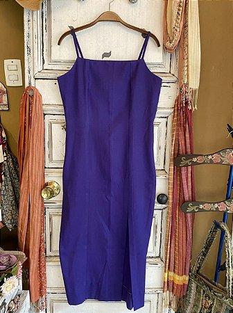 Vestido Midi com Fenda Roxo (G)