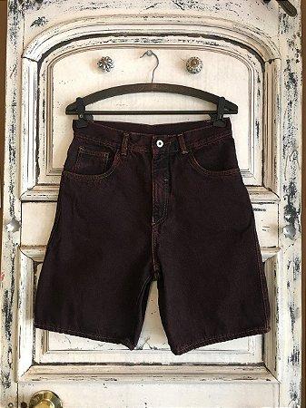 Bermuda  Jeans vinho (38)
