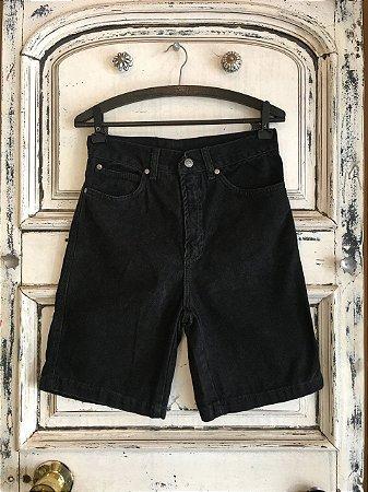Bermuda Jeans Hamuche Preta (36)