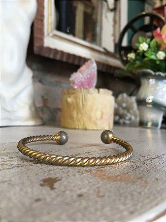 Pulseira vintage corda dourada