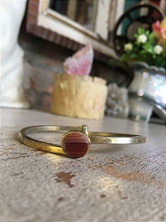 Pulseira vintage dourada Pedra Natural