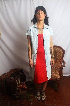 Vestido Midi Alçinha vermelho (M)