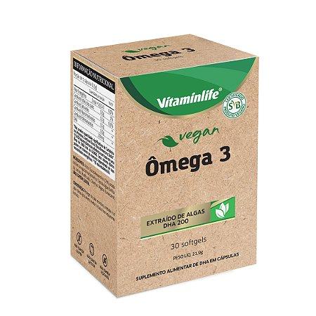 Vegan - Ômega 3 (Extraído de algas - DHA 200mg) - 30 cápsulas