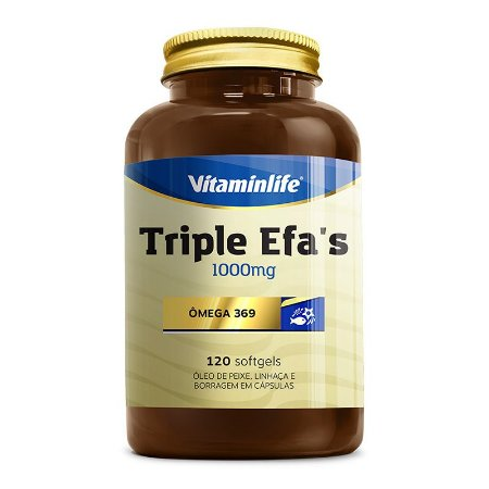Triple Efa's - Omega 369 1000mg - 120 cápsulas