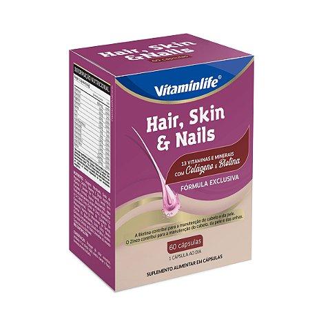 Hair, Skin & Nails com Colágeno e Biotina - 60 cápsulas