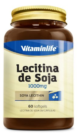 Lecitina de Soja 1000 mg - 60 cápsulas