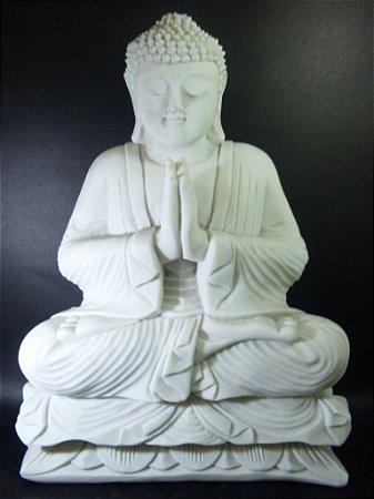 Buda meditando grande em marmorite