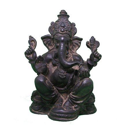 Ganesha envelhecido em resina G
