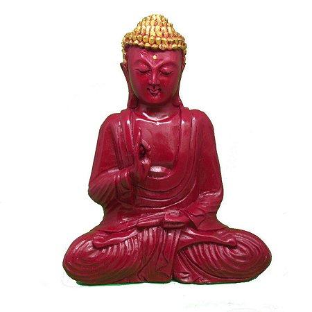 Buda meditando marmorite 32cm - escolha a cor