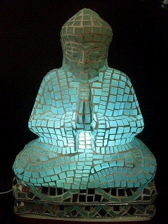 Luminária Buda meditando