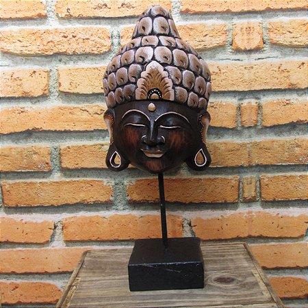 Máscara Buda com pedestal