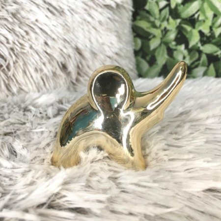 Elefante de cerâmica ouro