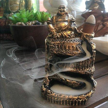 Incensário cascata Buda da prosperidade