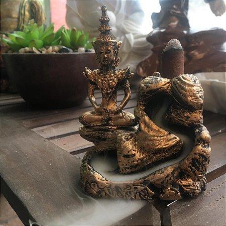 Incensário cascata Buda Tibetano