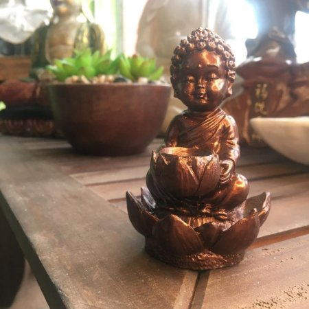 Incensário cascata monge lótus