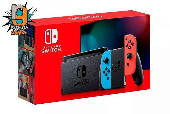 Console Nintendo Switch 32GB Neon XKW - Nintendo