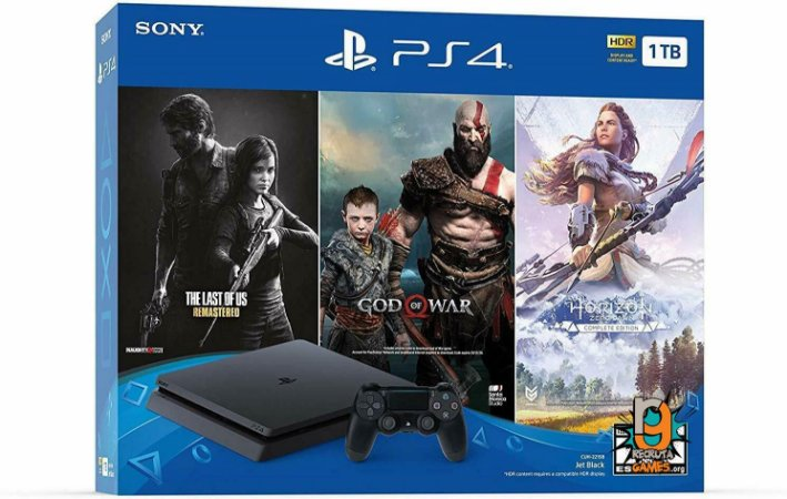 Console Bundle V3 Playstation 4 SLIM 1Tb CUH 2215B - Sony