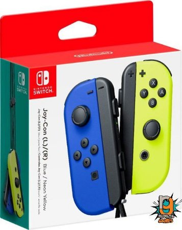 Controle Joy-Con (L-R) Blue/ Neon Yellow - Switch