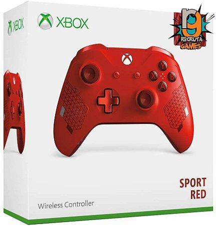 Microsoft  Controle Sem fio Xbox One Newest Sports Red - Microsoft