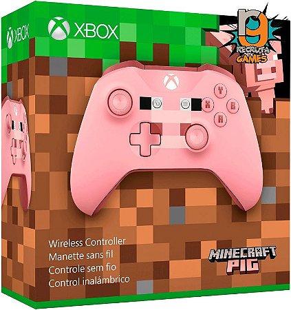 Controle Sem fio Xbox One Newest Sports Minecraft Pig - Microsoft