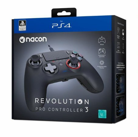 Controle Com Fio Nacon Revolution Pro 3 Preto - Nacon