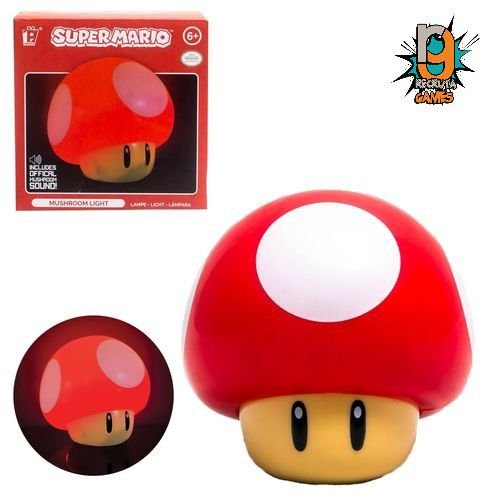 Luminaria Super Mario Bros - Mushroom Light - Luminaria Nintendo - OFICIAL