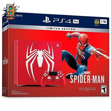 Console PS4 1TB Pro Bundle Spider Man CUH7115B - Sony