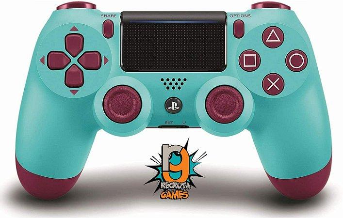 Controle DualShock 4 Sem fio para PS4 Berry Blue Custom - Sony 100% Sony