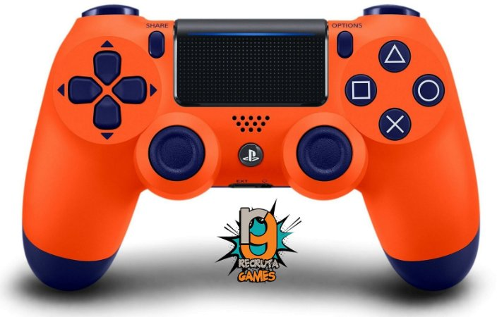 Controle DualShock 4 Sem fio para PS4 Sunset Orange Custom - Sony 100% Sony