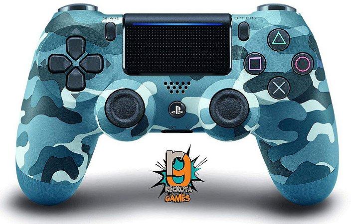 Controle DualShock 4 Sem fio para PS4 Blue Camouflage - Sony