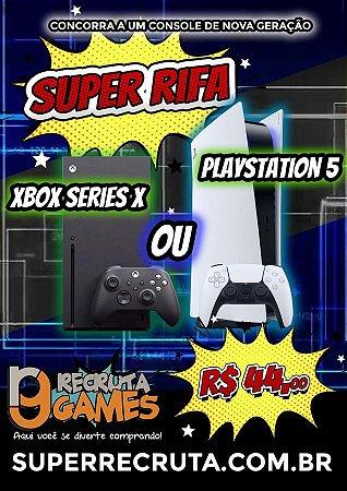 Rifa 1 Xbox Series X ou Playstation 5 - Confira o regulamento na descrição e participe !!
