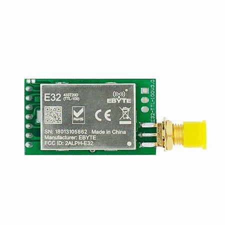 Módulo RF Wireless LoRa 433MHz